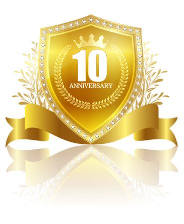 10th: Frame gold crown Illustration