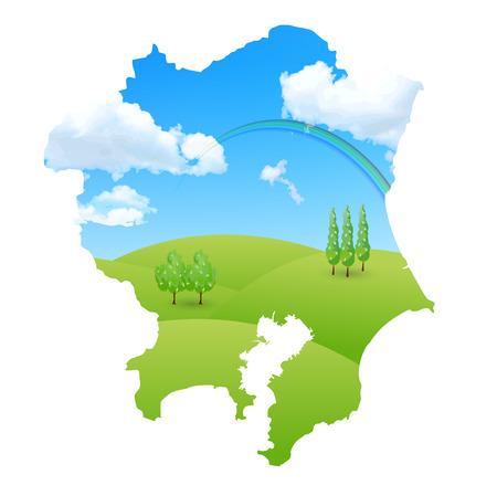 kanto: Kanto sky landscape