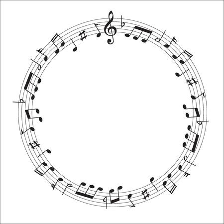 楽譜スコア  イラスト・ベクター素材