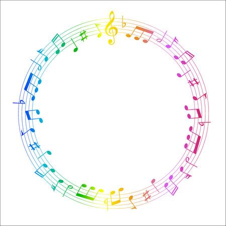 music score: Music score note Illustration