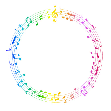 Muziekscore note