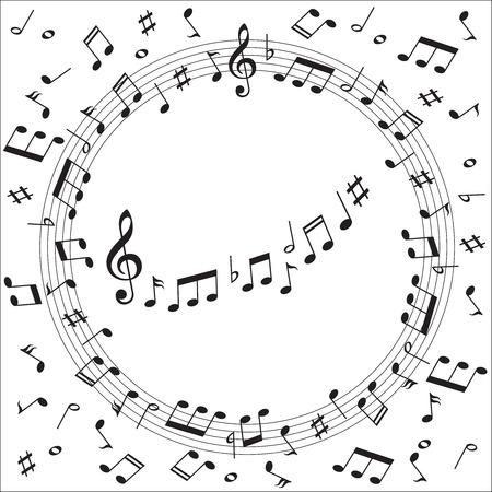 partition musique: Le score � la note de musique