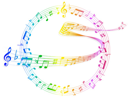 meandering: Note music score Illustration