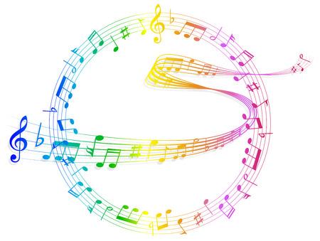 Note music score 向量圖像