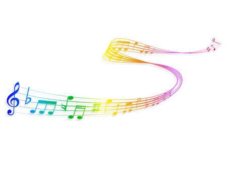 Note music score Vector
