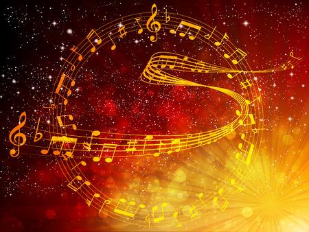 partition musique: Remarque partition Illustration