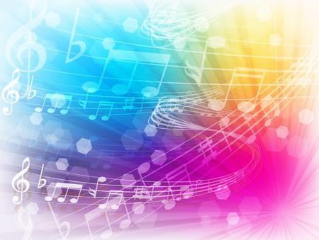 partition musique: Note de musique musique