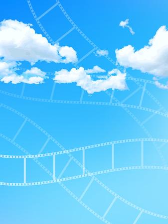 filmnegativ: Negativfilmhimmel Illustration