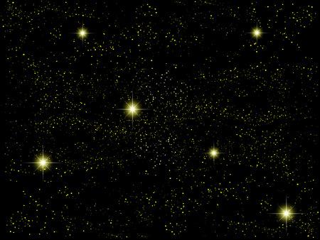 夜の空の空の風景  イラスト・ベクター素材