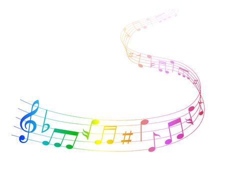 Muziek noot muziek Stock Illustratie