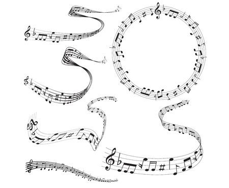 Note music score Ilustração