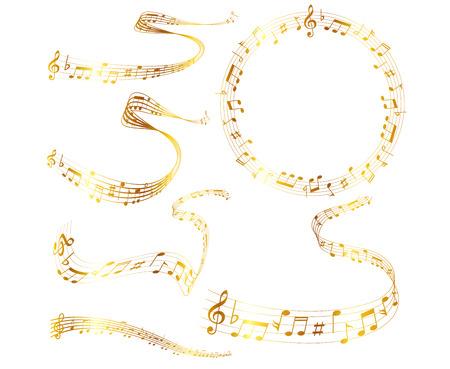 meandering: Note music score Illustration