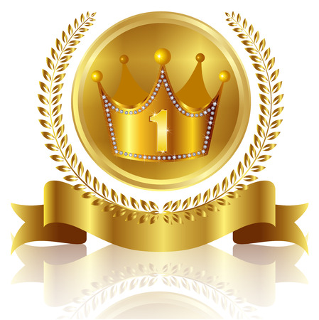 Crown crown medal Vector