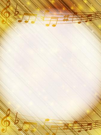 Musik Hinweis Hintergrund Standard-Bild - 28516812