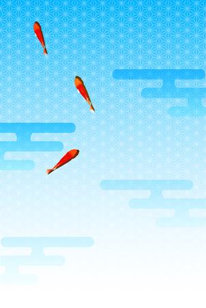 sympathy: Hot weather sympathy goldfish background