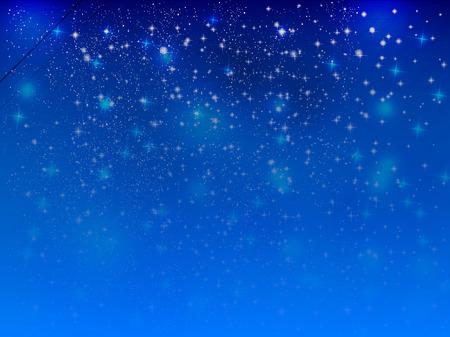 night sky: Sky night sky landscape Illustration