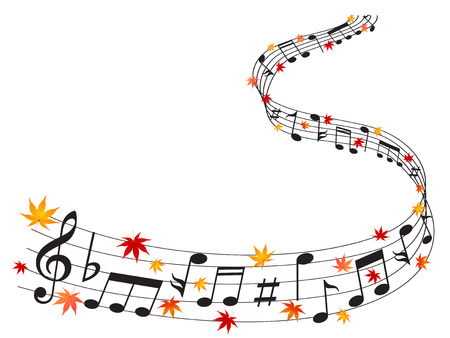 Note music maple Illustration