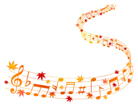 meandering: Note music maple Illustration