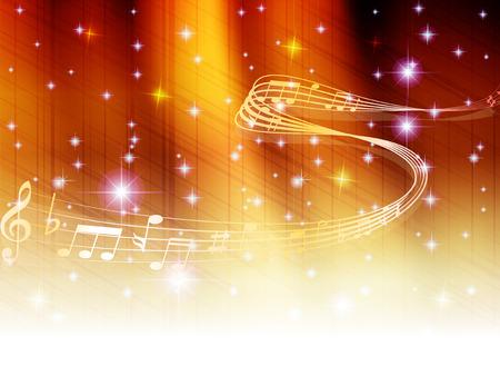 Musik Hinweis Hintergrund Standard-Bild - 28782364