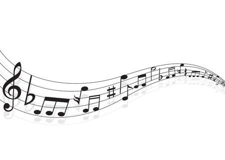 Musikanmerkung Hintergrund Standard-Bild - 28868917
