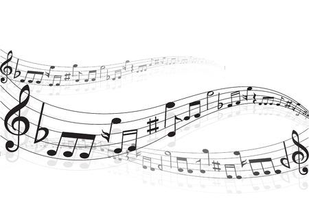 Muzieknoten achtergrond Stock Illustratie