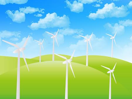 Sky wind wind power