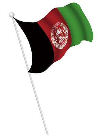 afghanistan': Afghanistan national flag Illustration