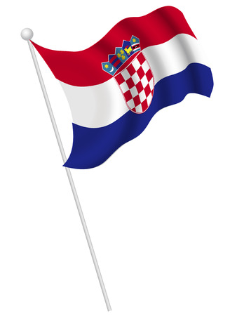 croatia: Croatia national flag Illustration