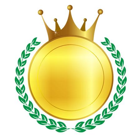 Crown frame medal