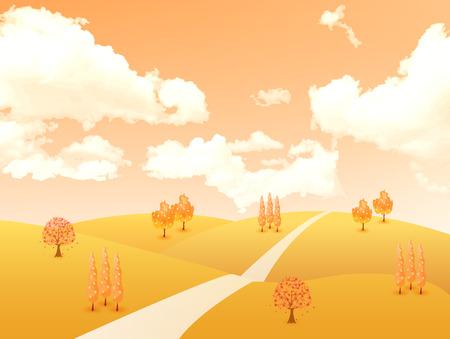 plateau: Maple autumn leaves background