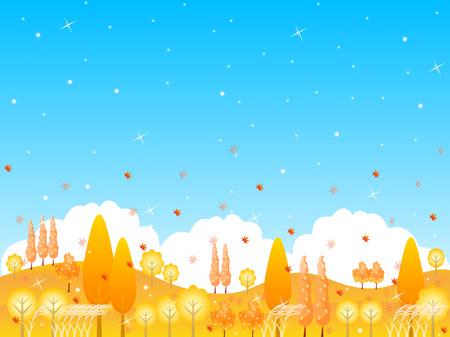 plateau: Maple foliage landscape