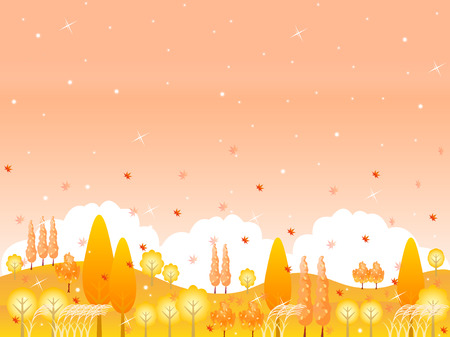 Maple foliage landscape