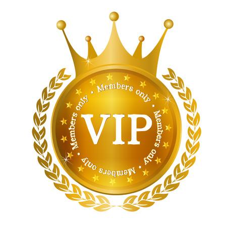 VIP Crown medal frame Vector