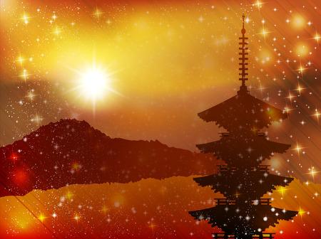 kyoto: Kyoto paesaggio autunnale