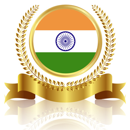 India national flag frame Vector