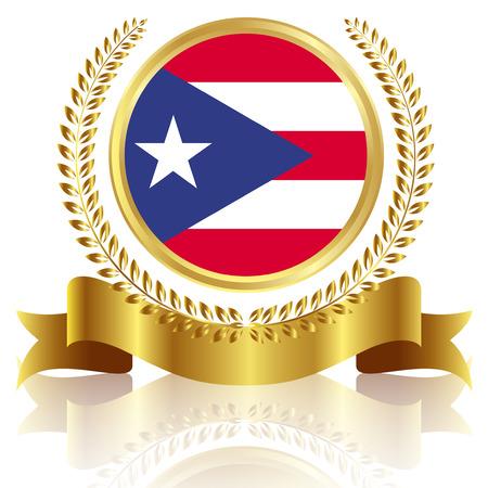 puerto rico: Puerto Rico flag frame