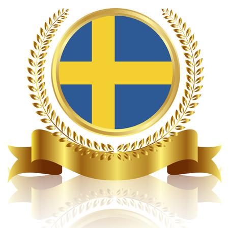 Sweden national flag frame Illustration