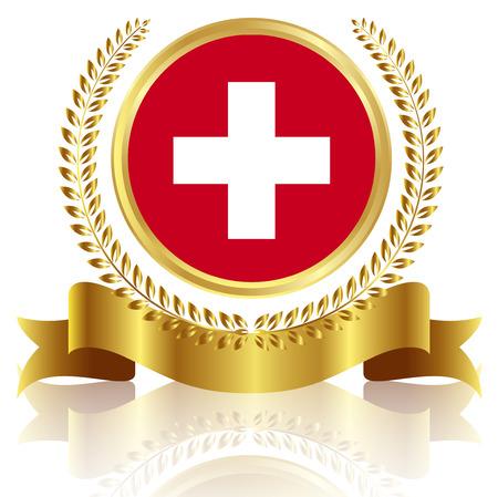 swiss flag: Swiss flag frame