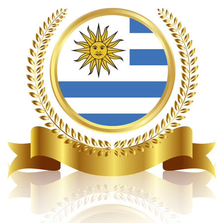 uruguay: Uruguay national flag frame