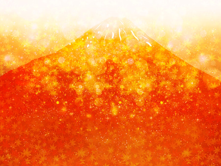 Maple Mount Fuji background Vector