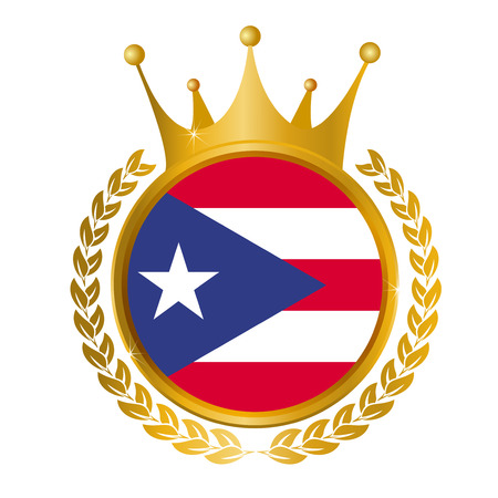 bandera de puerto rico: Marco pancarta Puerto Rico Vectores
