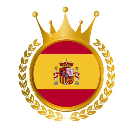 スペイン国旗のフレーム