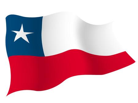 チリ国国旗  イラスト・ベクター素材