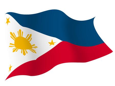 フィリピンの国旗の国  イラスト・ベクター素材