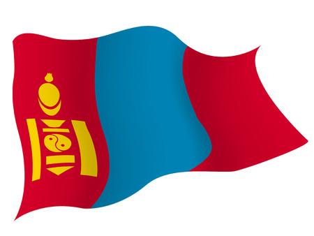 モンゴル国旗の国