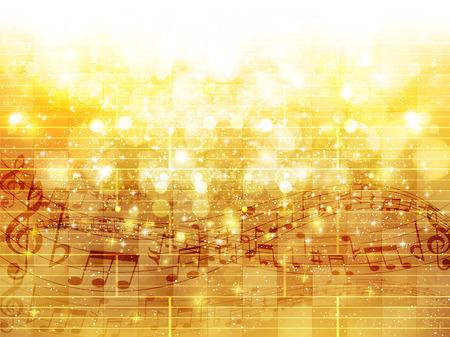 Music note background Ilustração