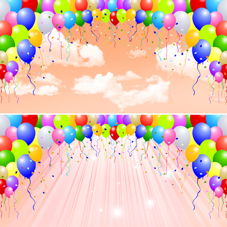 fall background:  Balloons fall background