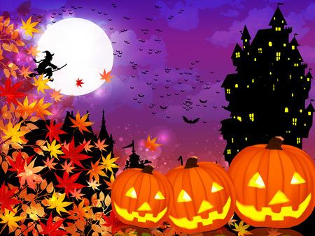 Halloween maple background Vector