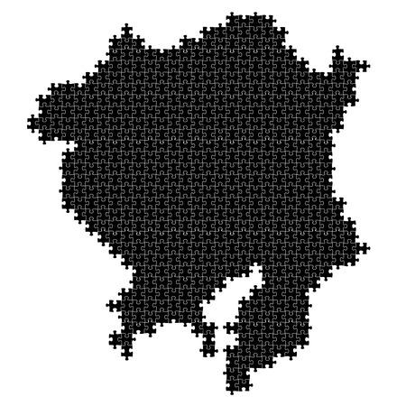 kanto: Japan, prefectures map