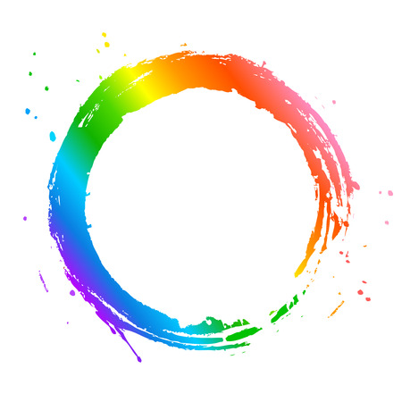 Rainbow circle frame Vectores